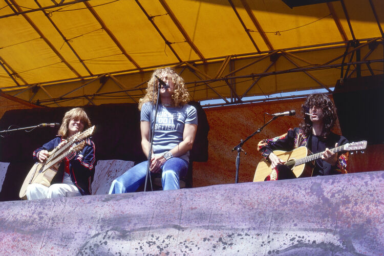 John Paul Jones; Robert Plant, and Jimmy Page