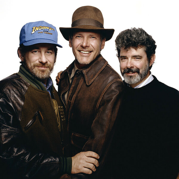 George Lucas, Harrison Ford and Steven Spielberg
